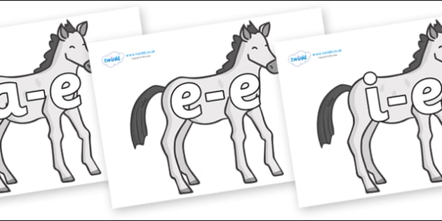 Modifying E Letters on Ponies - Modifying E, letters, modify, Phase 5, Phase five, alternative spellings for phonemes, DfES letters and Sounds