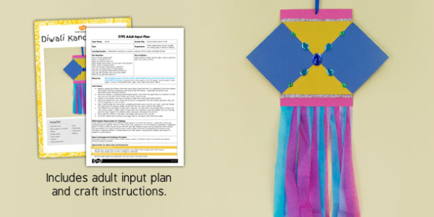 Diwali Kandil Lantern EYFS Adult Input Plan and Craft Pack - diwali, kandil, lantern, eyfs, craft
