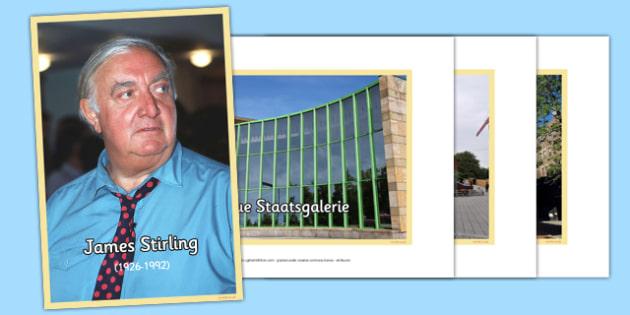 Scottish Architect James Stirling Photo Pack - CfE, Scottish Architects, architecture, scotland, James Stirling