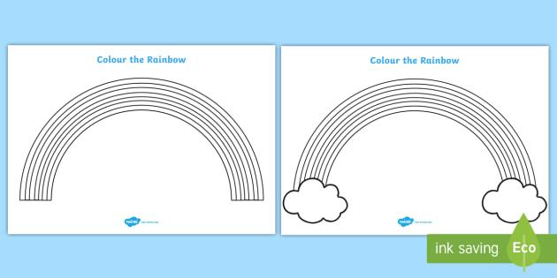 Colour the Rainbow Worksheet - Rainbow colouring sheet, colouring sheet, colour, seasons, rainbow, noah, fine motor skills, colouring, worksheet