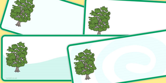 Editable Beech Tree Drawer Peg Name Labels - trees, signs, labels