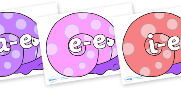 Modifying E Letters on Sea Snail - Modifying E, letters, modify, Phase 5, Phase five, alternative spellings for phonemes, DfES letters and Sounds