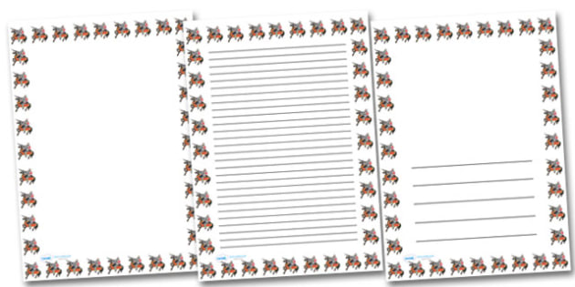 Knight On Horse Portrait Page Borders- Portrait Page Borders - Page border, border, writing template, writing aid, writing frame, a4 border, template, templates, landscape