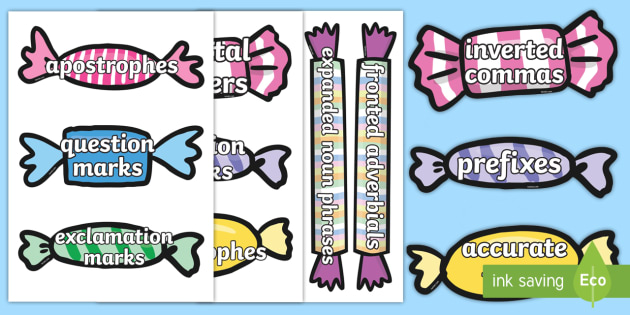 Year 4 Writing Words Pick and Mix Display Cut-Outs - Y4, Writing Assessment, Key Features, Spag, Non-Negotiables