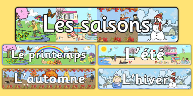 Four Seasons Display Banners French - four seasons, display banners, french, four, season