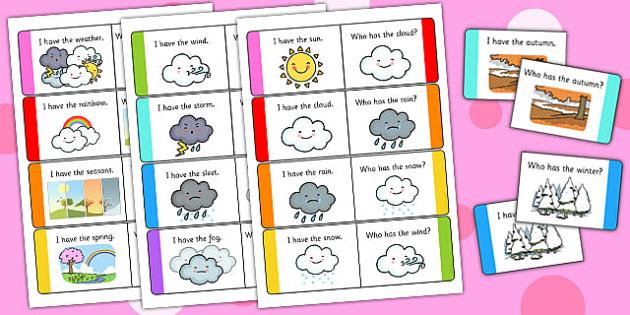 Weather Loop Cards - weather, loop cards, loop, cards, activity