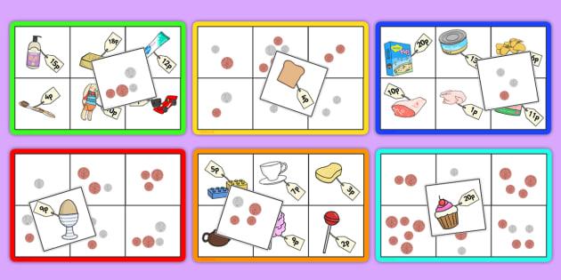Supermarket Bingo - supermarkets, game, activity, activities