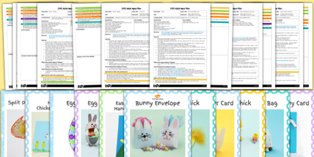 EYFS Easter Craft Activities with Accompanying Planning Pack