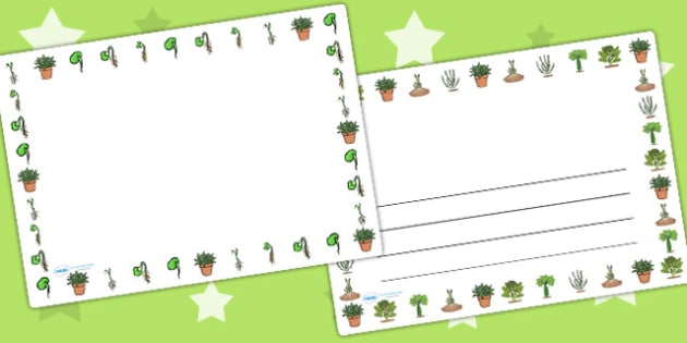 Life Cycle of a Plant Landscape Page Borders - life cycles, plant