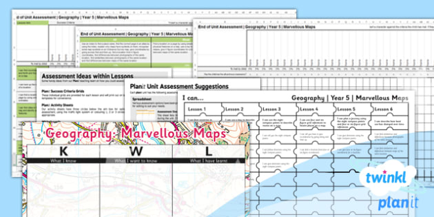 Geography: Marvellous Maps Year 5 Unit Assessment Pack