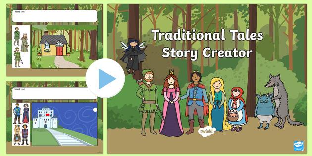 Traditional Tales Story Creator For IWB - traditonal tales, IWB