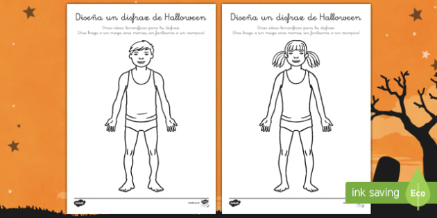 Halloween   Diseña un disfraz Ficha de actividad-Spanish