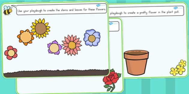 Flower Playdough Mats - Australia, Flower, Playdough, Mats, Mat
