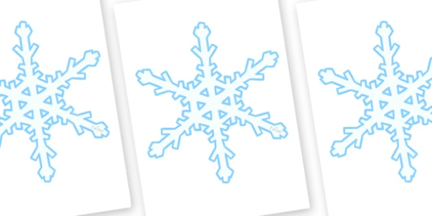 Display Snowflakes (A4) Editable  - snowflakes, winter, display