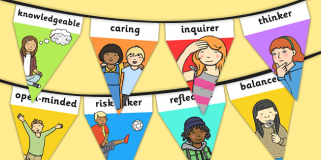 Personal Qualities Bunting - display, displays, decorations