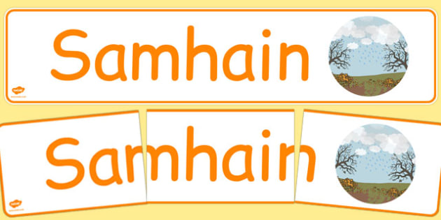 Samhain Display Banner Gaeilge - gaeilge, year, months of the year, november
