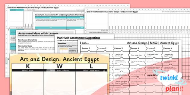 Art: Ancient Eygpt UKS2 Unit Assessment Pack