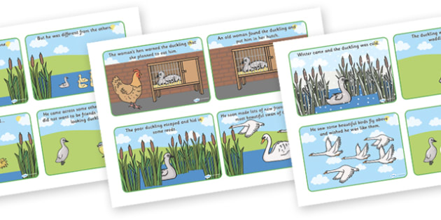 The Ugly Duckling Story Cards - the ugly duckling, the ugly duckling story sequencing, the ugly ducking story, traditional tale story cards, story cards