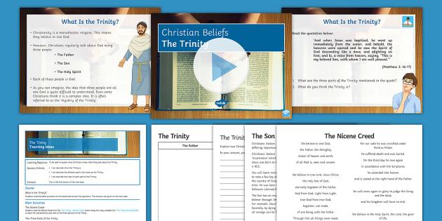 The Holy Trinity Lesson Pack - Christian; God; Trinity; Jesus; Son of God; Holy Spirit; God the Father