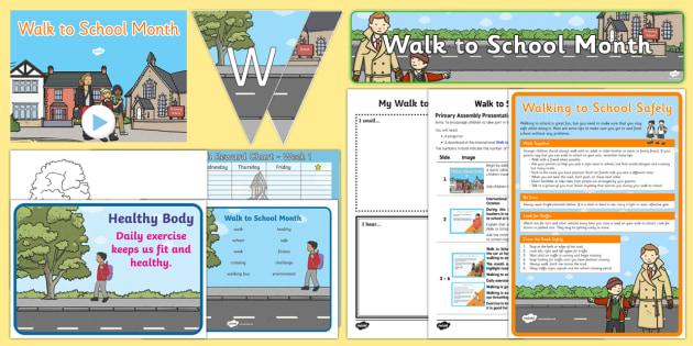 Walk to School Month Resource Pack