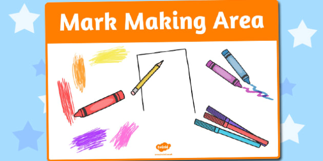 Mark Making Area Sign - mark making, area, sign, display sign