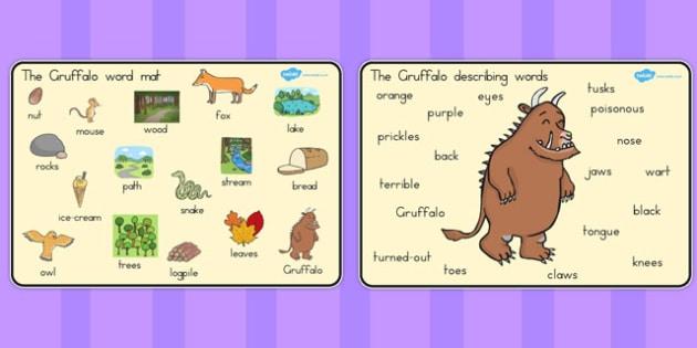 The Gruffalo Word Mat Images - australia, gruffalo, word mat, images