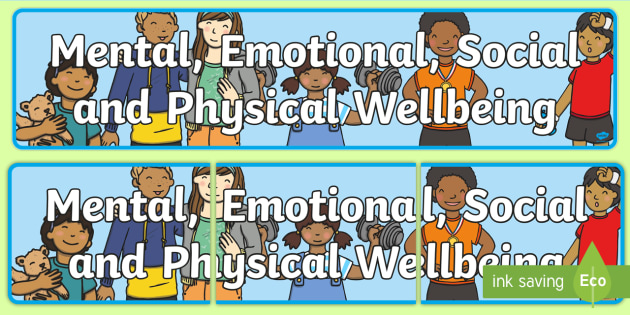 Mental Emotional Social and Physical Wellbeing Display Banner CfE