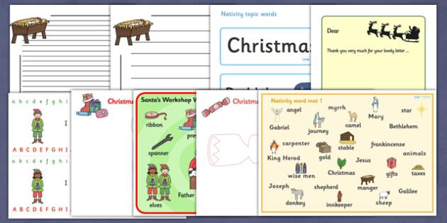 Christmas Literacy Resource Pack - christmas, literacy, pack