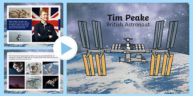 Tim Peake British Astronaut Information PowerPoint - tim peake, british, astronaut, information, powerpoint