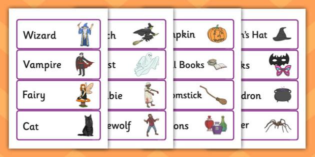 Halloween Fancy Dress Shop Role Play Labels - halloween, fancy dress, dress up, fancy dress shop, role play, labels, role play labels, halloween labels