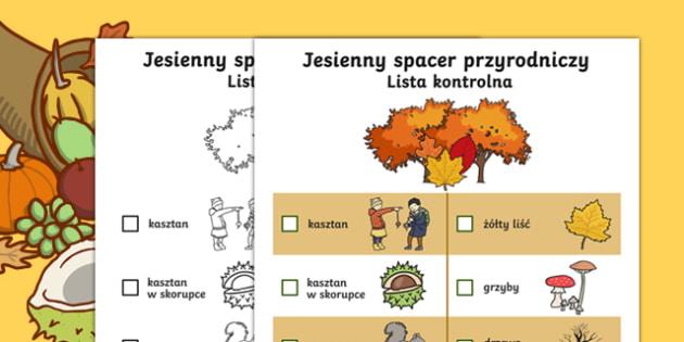 Autumn Hunt Checklist Polish-Polish