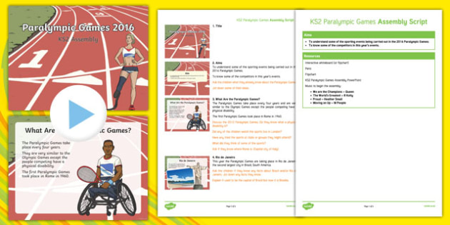 KS2 Paralympic Games Assembly Pack
