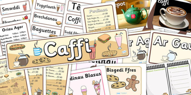 Cafe Role Play Pack (Welsh Translation) - roleplay, EAL, props