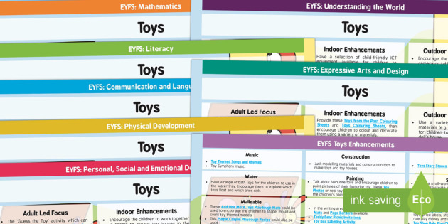 EYFS Toys Themed Lesson Plan and Enhancement Ideas - lesson ideas, EYFS lessons, toy