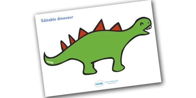Editable Dinosaur - Dinosaur, display, editable, label, dinosaurs, topic, history, t-rex, stegosaurus, raptor, iguanodon, tyrannasaurus rex