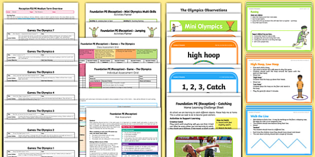 Foundation PE (Reception) – Games - The Olympics Unit Pack - EYFS, early years, planning, the olympics, foundation pe, physical development