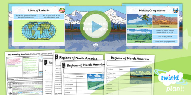 Geography: The Amazing Americas: Comparing Landscapes Year 6 Lesson Pack 2