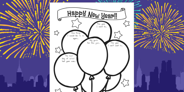 Happy New Year Activity Sheet - australia, new year, worksheet, happy