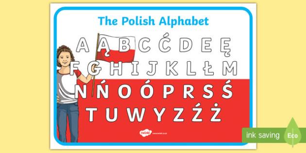 Polish Alphabet A4 Display Poster
