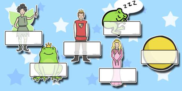 The Frog Prince Self Registration - Frog, princess, prince, evil fairy, splash, kiss, well, king, bed, Self registration, register, editable, labels, registration, child name label, printable labels, sleep, golden ball, beautiful, fell, plate, palace
