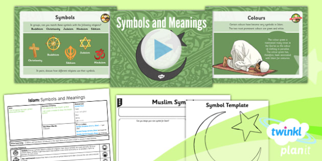 PlanIt - RE Year 3 - Islam Lesson 6: Symbols and Meanings Lesson Pack - Muslim, crescent, moon, star, mobile