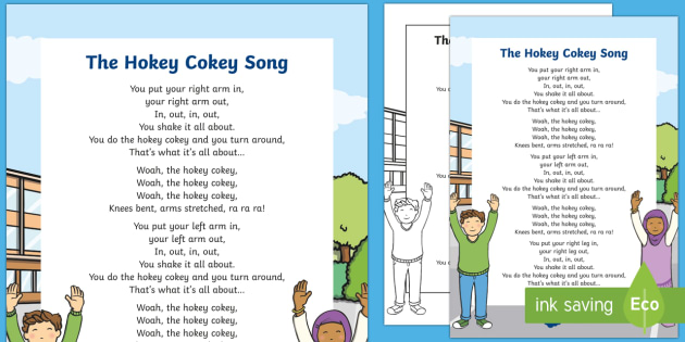 The Hokey Cokey Song - Physical development, eyfs, movement, songs, rhyme