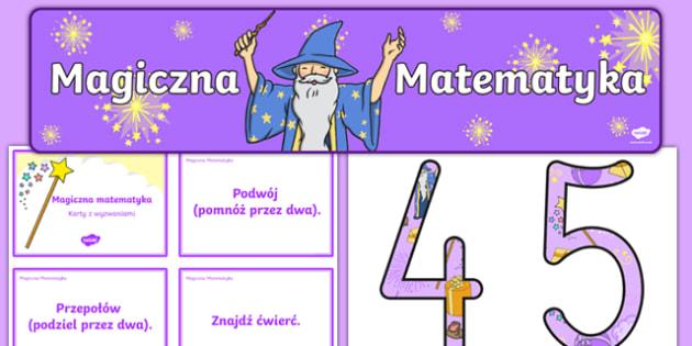 Zestaw materiałów Magiczna Matematyka po polsku