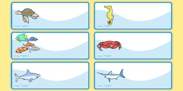 Editable Peg Drawer Labels Sea Creatures French - french, france, francais, sea creatures