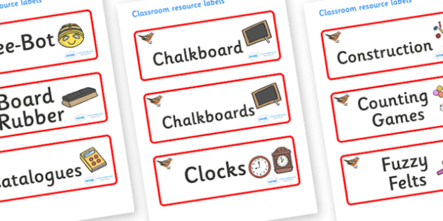 Chaffinch Themed Editable Additional Classroom Resource Labels - Themed Label template, Resource Label, Name Labels, Editable Labels, Drawer Labels, KS1 Labels, Foundation Labels, Foundation Stage Labels, Teaching Labels, Resource Labels, Tray Labels