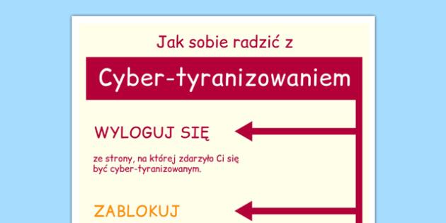 Plakat Jak radzić sobie z tyranizowaniem po polsku - wychowcze