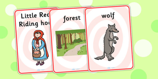 Little Red Riding Hood Display Posters - traditional tale, poster