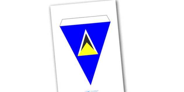 St Lucia Flag Bunting - St Lucia Flag Bunting, St Lucia, Carribean Sea, Carribean, island, sovereign, country, flag, flags, bunting
