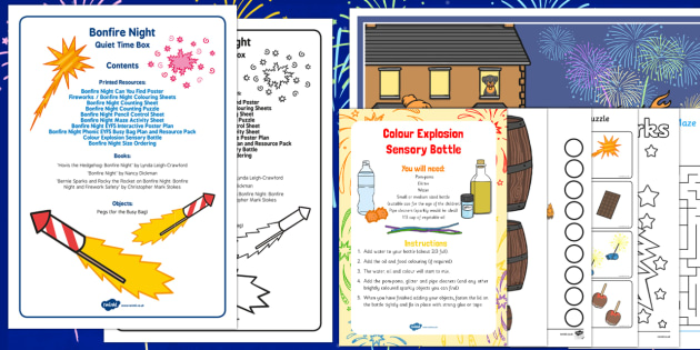 Bonfire Night Quiet Time Box