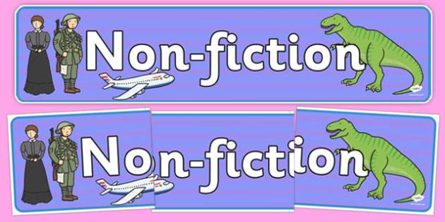 Non-Fiction Display Banner - non-fiction, display banner, display, banner, reading, read, books